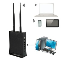 HJJ-6102 High-Power Speed 300M Wireless Broadband Router Black Color Wireless Router ABS Faster Stronger Router(China)