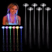 6pcs/lot Colorful LED Wigs Glowing Flash LED Hair Braid Clip Hairpin Decoration Ligth Up Show Easter Party supplies Christmas(China)