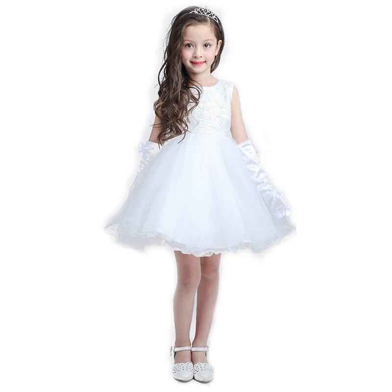 2017 latest high-end wedding white flower girl dresses girls princess dress tutu dress perfect birthday party children dress<br><br>Aliexpress