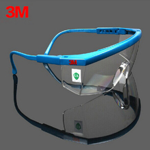 3M 1711AF Safety Glasses Goggles Anti-wind Anti sand Anti Fog Anti Dust Resistant Transparent Glasses protective eyewear(China)