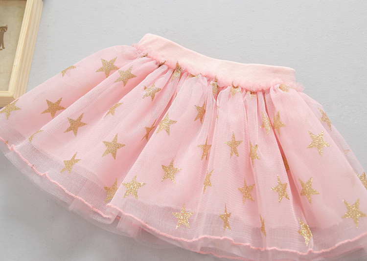 Fanfiluca New Baby Girl Clothes Tutu Skirt Ballerina Pentagram Children Ballet Skirts Party Dance Princess Girl Tulle Miniskirt009