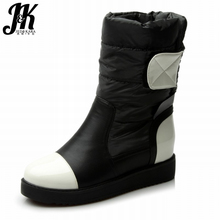 Size 34-40 Ladies 2016 New High Quality Warm Down Fashion Snow Boots Fur Inside Flat Sole Ankle Boots Women Winter Shoes Woman