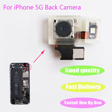 1pcs Top quality Repair Parts 8.0 Mega Pix Back Rear Camera With Flash Module Flex Cable Ribbon For iPhone 5 5G