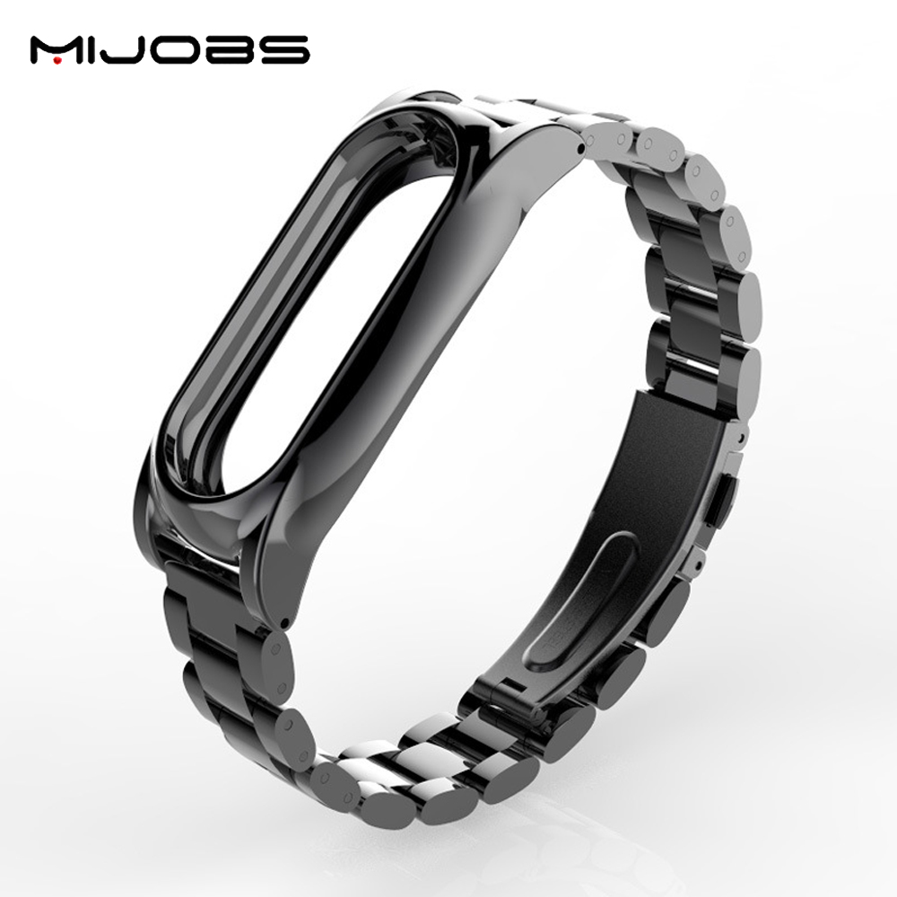 Mijobs Metal Strap Plus No Screw Design Stainless Steel Metal Strap For Xiaomi Mi Band 2 /Mi Band 2 Strap/Mi Band 2 Accessories