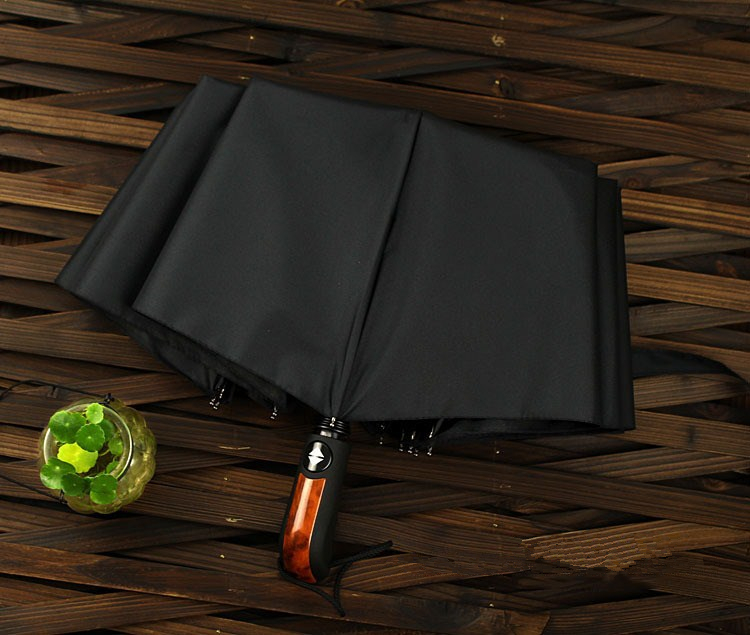 Wind resistant folding automatic umbrella rain women auto luxury big windproof umbrellas rain for men black coating 10k parasol us11