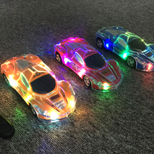 Fun fantasy flashing led light remote control car toys for children kids boys fun electric rc car toys gift present model stunt(China)