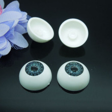 20Pcs(10pairs) Half Round Plastic Doll Eyes Gray Color BJD EYES, Doll Dollfie Eyes Eyeballs 20mm Wholesale AL194