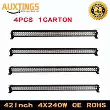 DISCOUNT 4PCS car led light bars FREE shipping 42inch 240 watt led light bar 4x4 combo beam ip67 12 volt led light bar