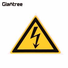 Giantree 10 Pcs Electrical Shock Hazard Safety Yellow and Black Warning logo Security Stickers Labels Decals(China)