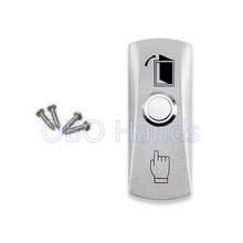 Free shipping high quality stainless steel door release switch emergency exit button silver keys for access control system-LH(China)