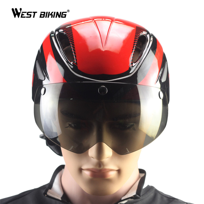 Bicycle Cycling Helmets Casco Ciclismo Casque Velo Ultralight Integrally-molded MTB Bike Helmets Magnetic Goggles Cycling Helmet<br>