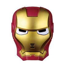 Iron Man Cosplay Mask LED Glowing Superhero Children Mask Spiderman Hulk Batman Party Cartoon Movie Mask For Children's Day(China)
