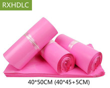 40*50cm Pink color Big size Large Express Bag/ Poly Mailer Mailing Bag Envelope/ Self Adhesive Seal Plastic Bag 100pcs/lot(China)