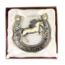 "Unique gift box.Russian horseshoe.running horse model figurine.office/home decor.customized metal gift craft statues""happiness"""