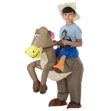 costumes animal halloween costume for kids inflatable cowboy ride horse childrens day purim party dress 12m 13m