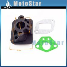 Plastic Intake Inlet Manifold Gaskets For 2 Stroke 33cc 43cc 49cc Engine Goped Scooter Cat Eye Pocket Bike Kids Moto(China)