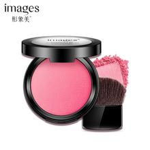 IMAGES Eye Shadow Blush Palette Face Makeup Baked Cheek Color Blusher Professional 2017 N1(China)