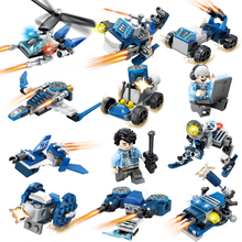 Sembo Police Serie Car Helicopter Building Block Toys Compatible Legos Police Technic City Weapon Toys For Children Gift Toys(China)