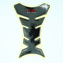 Ordinary Mail Motorcycle Fishbone Shaped Sticker Carbon Fiber Fuel Gas Tank Pad Protector Decal For Hayabusa GXSR 600 750 1000(China)