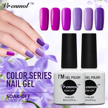 Vrenmol 8ml French Nail Gel Polish Pink Purple Series UV Gel Lak Long Last Gel Varnish Gelpolish need Base Top coat