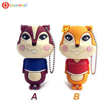 Stick usb 8GB 16GB 32gb 64gb pen drive, couple squirrel usb flash drive,USB Memory Stick/Pendrive U Disk, Wedding gifts 8GB