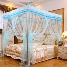 2017 New Floor-style Court Mosquito Net Princess Mosquito Net Top Three Doors Open Stainless Steel Stent Mosquito Net Wholesale(China)