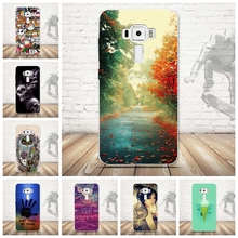 Fashion Ultra Soft Silicone TPU Case For Asus Zenfone 3 ZE520KL Scenery Printing Phone Case for Asus Zenfone 3 ZE520KL Bags Capa(China)