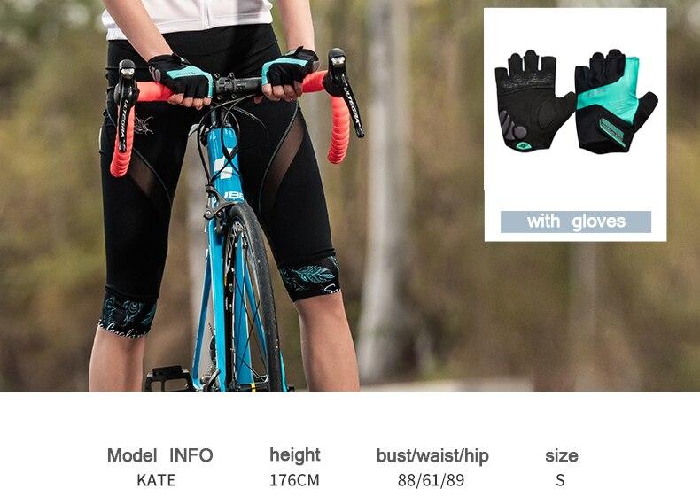 2018 Santic Cycling Shorts Women MTB Shorts Downhill Bike Shorts Bicycle Short Hollow Out Road Sport Cycling 34 Shorts Mesh (7)