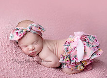 Vintage inspired diaper covers matching hair bow,Floral nappy cover matching headband,floral bloomers