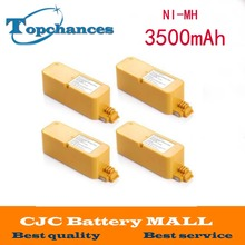 High Quality 4x 14.4V 3500mAh Ni-MH Vaccum Cleaner Battery For iRobot Roomba 400 series