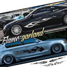 1 Pair Flame Fire Ho Garland Side Racing Vinyl Modified Line Reflective Speed Drift Car Auto Decal Stickers Tuning Car Styling