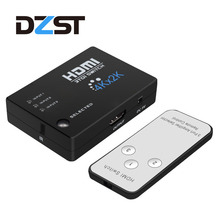 DZLST 1080P HDCP HDMI Switcher Hub 4K*2K Switch 3 input to 1 output Adapter Remote controller for HDTV HD-DVD SKY-STB PS3 Xbox(China)