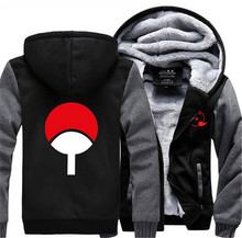 New Uzumaki Naruto Uchiha Sasuke Hoodie Jacket Winter Fleece Mens Womens Sweatshirts Oversized Cosplay Costume Free Shipping