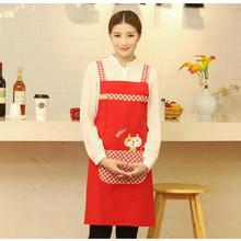 New Delicate Cute Animal Cat Kitchen Restaurant Cooking Aprons With Pocket for Woman work Custom Apron Overalls