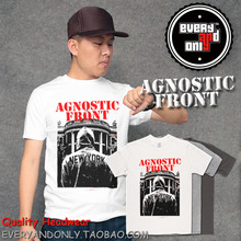Agnostic Front Hardcore Band Capito 100% Cotton T-shirt Tee T Clothing(China)