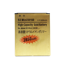 2850mAh EB425161LU i8190 Gold Replacement Battery For Samsung Galaxy S3 Mini GT-i8190 i8190 ACE II 2 I8160 + Tracking Cord(China)