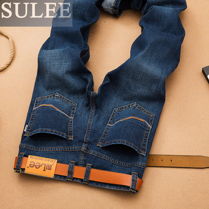 SULEE Brand 2017 new autumn winter men jeans causal fashion pants full long denim trousers cottonОдежда и ак�е��уары<br><br><br>Aliexpress