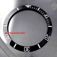 39.8mm black ceramic bezel insert for watch made by parnis factory B8(China)