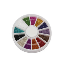 2000pcs Mix Colors Steel Ball Bead Multicolor Nail Art Acrylic Tips Decoration Wheel Manicure well @ME88