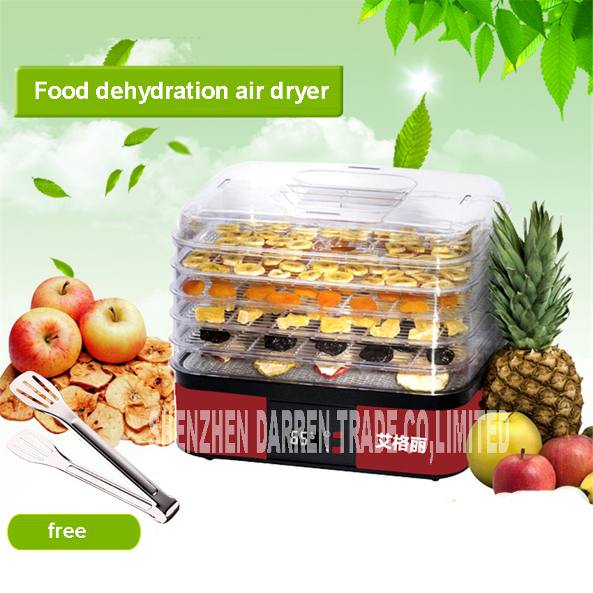 220V Electric Food Dryer Fruits/Vagetables Drying Machine 250W Pet Treats Dehydrators PP plastic Material 40-70 degrees<br>