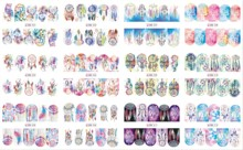 12 Sheets/Lot Nail BN301-312 Hot Fashion Dream Catcher Full Cover Nail Art Water Wraps Sticker Decal For Nail (12 DESIGNS IN 1)(China)