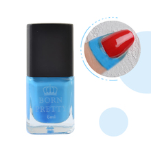 BORN PRETTY Blue Liquid Tape & Peel Off Base Coat Easy Clean Care Nail Polish 6ml Nail Art Liquid Palisade Nail Art Latex(China)