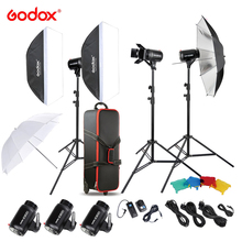 Godox E300-D 14 in 1 Professional Photography Photo Studio Speedlite Lighting Lamp 3 * 300W Studio Flash Strobe Light Kit Set