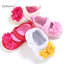 Infant Anti-Slip Flower Baby Girl Shoes Child Toddler Crochet Baby Shoes 0-18Month Newborn Baby Moccasins(China)