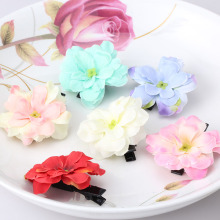 Children Summer Stylish Hair Accessories Hairpins Beautiful Flower Headwear Hair Pins Barrettes Girls Headdress Hair clip(China)