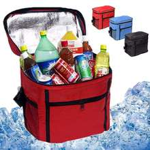 Insulated Picnic Bag Thermal Cooler Waterproof Portable Tote Lunch Multi-Functional Oxford Cloth Travel Ice Box Outdoor Camping