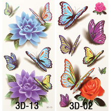 3 Sheets Sexy Charming Butterfly Temporary Tattoo Body Art 3D Tattoo Sticker 19*9cm Waterproof Tatoo Summer Style Sex Products(China)