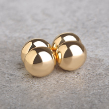 Brand New Magnetic Earrings Studs Round Gold-color 1.0 cm Punk No Pierced Earring For Women Men 316L Stainless Steel Bijouterie