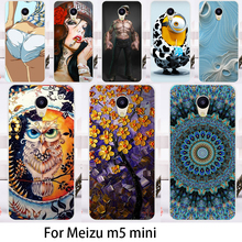 Cases For Meizu M5 Mini Cover Meilan 5 Meilan5 5.2 Inch Cell Phone Bags Flowers Dirt-resistant Durable Hard Skin Housing Sheath