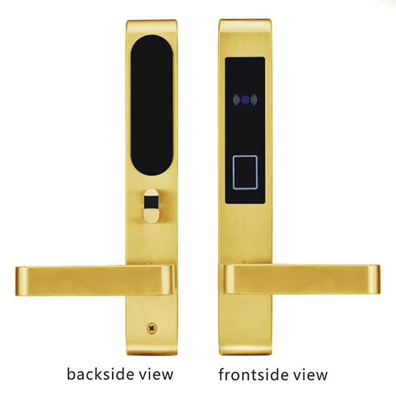 Card Door Lock L&amp;S SL16-058BG-4 Digital Smart Electronic RF Card For Office Apartment ANSI 5 Latches Mortise Gold<br><br>Aliexpress
